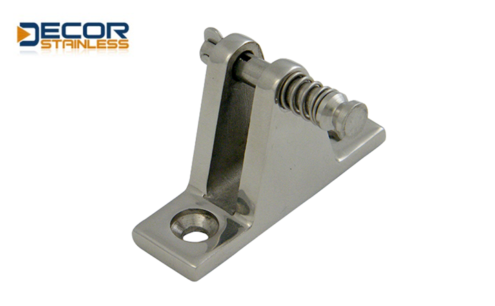 Rail Deck Hinge With Release Pin