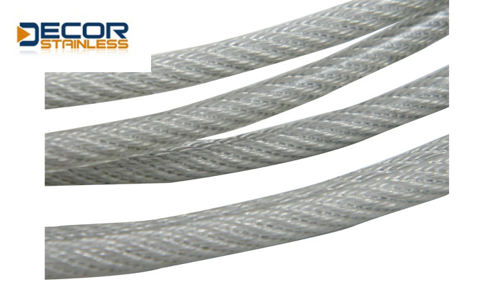 Wire Rope with clear PVC coated